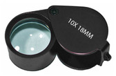 Aluminum Black Jeweler's Loupe 10x 18mm MJ381018B