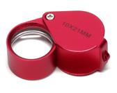 Aluminum Red Jeweler's Loupe 10x 21mm MK995-8RR