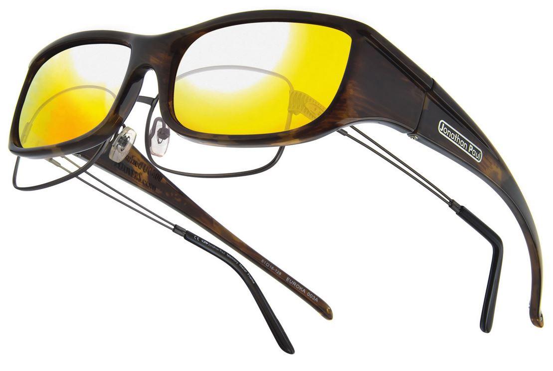 03699d1ea4da Jonathan Paul® Fitovers Eyewear Small Euroka in Brown-Marble   Gold Mirror  EU003YM. Image 1. Loading zoom