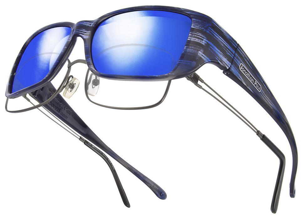 977b58d5de85 Jonathan Paul® Fitovers Eyewear Small Nowie in Brushed-Steel   Blue Mirror  NW001BM. Image 1. Loading zoom
