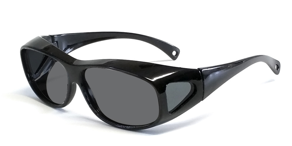 b14e7f85445 Calabria 7669 Polarized Floating Fit-Over Sunglasses. Black   Grey. Loading  zoom. Hover over image to zoom