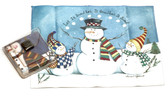 Holiday Christmas Theme Cleaning Cloth Let It Snow