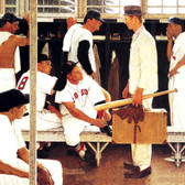 """Norman Rockwell Famous Artwork Cleaning Cloth """"Locker Room"""""""