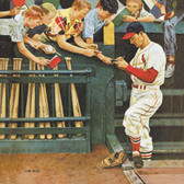 "Norman Rockwell Famous Artwork Cleaning Cloth ""Stan Musial"""