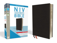 NIV, Thinline Bible, Large Print, Bonded Leather, Black, Red Letter Edition, Comfort Print Enlarge Book Cover NIV, Thinline Bible, Large Print, Bonded Leather, Black, Red Letter Edition, Comfort Print