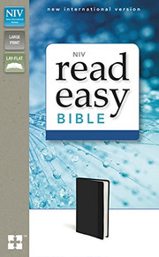 NIV, ReadEasy Bible, Large Print, Leathersoft, Black, Red Letter Edition