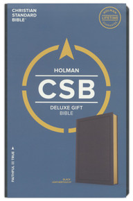 CSB Deluxe Gift Bible--soft leather-look, black