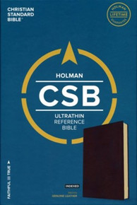 CSB Ultrathin Reference Bible, Genuine Leather, Indexed