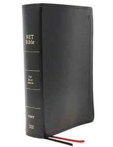 NET Bible, Full-notes Edition, Leathersoft, Black, Thumb Indexed, Comfort Print: Holy Bible (en anglais seulement)