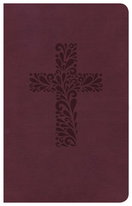 CSB Pocket Gift Bible, Burgandy Leathertouch