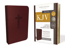 KJV, Reference Bible, Compact, Large Print, Leathersoft, Burgundy, Red Letter Edition, Comfort Print: Holy Bible, King James Version