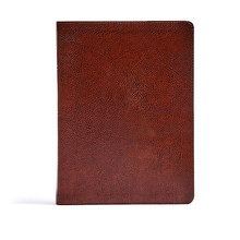 CSB Verse-by-Verse Reference Bible, Brown Bonded Leather Bonded Leather