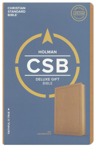 CSB Deluxe Gift Bible - soft leather-look, Tan