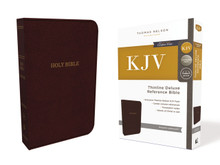 KJV, Deluxe Thinline Reference Bible, Leathersoft, Burgundy, Thumb Indexed, Red Letter, Comfort Print: Holy Bible, King James Version