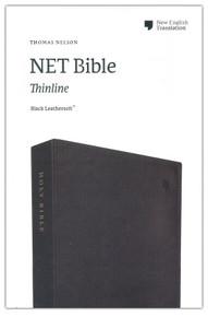 NET Bible, Thinline, Leathersoft, Black, Comfort Print: Holy Bible