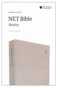 NET Bible, Thinline, Leathersoft, Tan, Comfort Print: Holy Bible