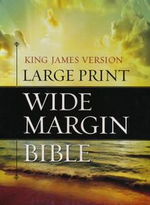 KJV Large Print Wide Margin Bible-Black Bonded Leather