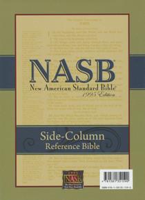 NASB Side-Column Reference Wide Margin Bible-Black Genuine Leather