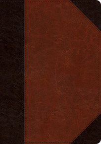 ESV Large Print/Wide Margin Bible-Brown Cordovan Portfolio Design TruTone