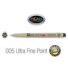 Pen-Pigma Micron Pen (005)-Black (Description anglophone)