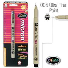 Pen-Pigma Micron Pen (005)-Black (Carded) (Description anglophone)