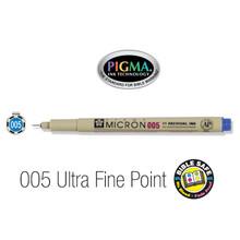 Pen-Pigma Micron Pen (005)-Blue (Description anglophone)
