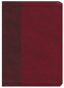 ESV Large-Print Single-Column Journaling Bible--soft leather-look, burgundy/red with timeless design