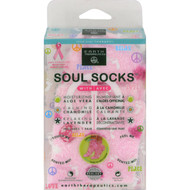 Earth Therapeutics Soul Socks - Pink Polka Dot - 1 Pair