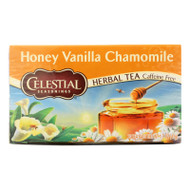 Celestial Seasonings Herbal Tea Caffeine Free Honey Vanilla Chamomile - 20 Tea Bags - Case Of 6