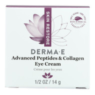 Derma E - Peptides Plus Wrinkle Reverse Eye Creme - 14 G - 0.5 Oz.