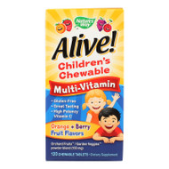 Nature's Way - Alive! Children's Chewable Multi-vitamin - Orange And Berry - 120 Chewable Tablets