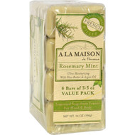 A La Maison - Bar Soap - Rosemary Mint - Value 4 Pack