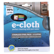 E-cloth Stainless Steel Cleaning Cloth - 2 Pack