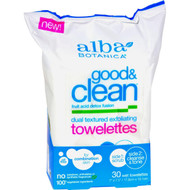 Alba Botanica - Good And Clean Exfoliating Towelettes - 30 Count