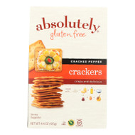 Absolutely Gluten Free Crackers - Cracked Pepper - Case Of 12 - 4.4 Oz.