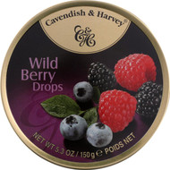 Cavendish And Harvey Fruit Drops Tin - Wild Berry - 5.3 Oz - Case Of 12