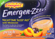 Emergen-c Emergen Zzzz - Nighttime Sleep Aid - Melatonin - Peach Pm - 24 Packets