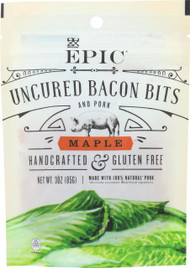 Epic Uncured Bacon Bits - Maple - Case Of 10 - 3 Oz.