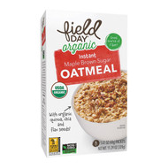 Field Day Organic Instant Maple Brown Sugar Oatmeal - Oatmeal - Case Of 6 - 11.29 Oz.