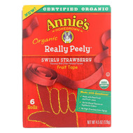 Annie's Homegrown Organic Swirly Strawberry Really Peely Fruit Tape - Case Of 12 - 4.5 Oz.