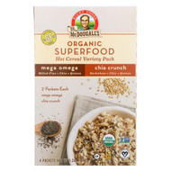 Dr. Mcdougall's Organic Superfood Hot Cereal Variety Pack - Case Of 8 - 5.2 Oz.