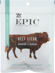 Epic Beef Steak Bites - Cranberry Sriracha - Case Of 8 - 2.5 Oz.