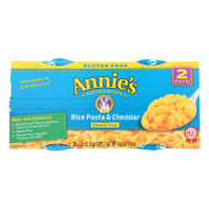 Annie's Homegrown Gluten Free Rice Pasta And Cheddar Microwavable Macaroni And Cheese Cup - Case Of 6 - 4.02 Oz.