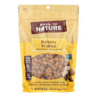 Back To Nature Granola Clusters - Banana Walnut - Case Of 6 - 11 Oz.
