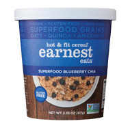 Earnest Eats Hot And Fit Superfood Cereal - Blueberry Chia - Case Of 12 - 2.35 Oz.