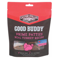 Castor And Pollux Good Buddy Prime Patties Dog Treats - Real Turkey - Case Of 6 - 4 Oz.