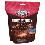 Castor And Pollux Good Buddy Jerky Strips Dog Treats - Real Salmon - Case Of 6 - 4.5 Oz.