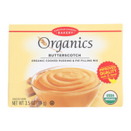 European Gourmet Bakery Organic Butterscotch Pudding Mix - Butterscotch - Case Of 12 - 3.5 Oz.