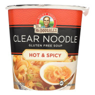 Dr. Mcdougall's Hot And Spicy Clear Noodle Asian Soup Cup - Case Of 6 - 1 Oz.