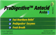 Axia 3 Heartburn Extinguisher Prodigestive Antacid - Mint - 45 Chewable Tablets